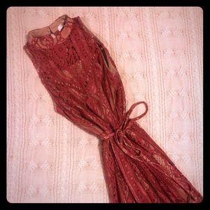 Wayf Lace Midi Dress